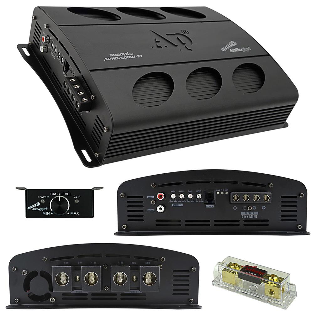 Audiopipe Class D Full Bridge High Power Amplifier 5000 Watts Mono 1 ohm Stable