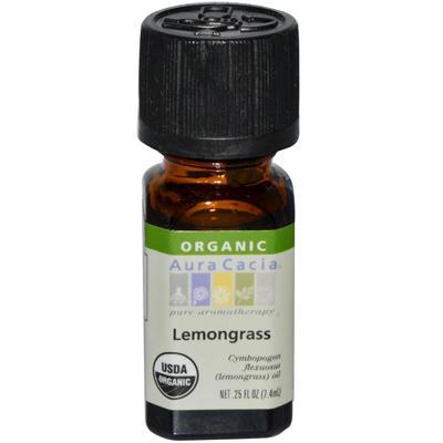 Aura Cacia Organic Lemongrass Essential Oil (1x25 Oz)