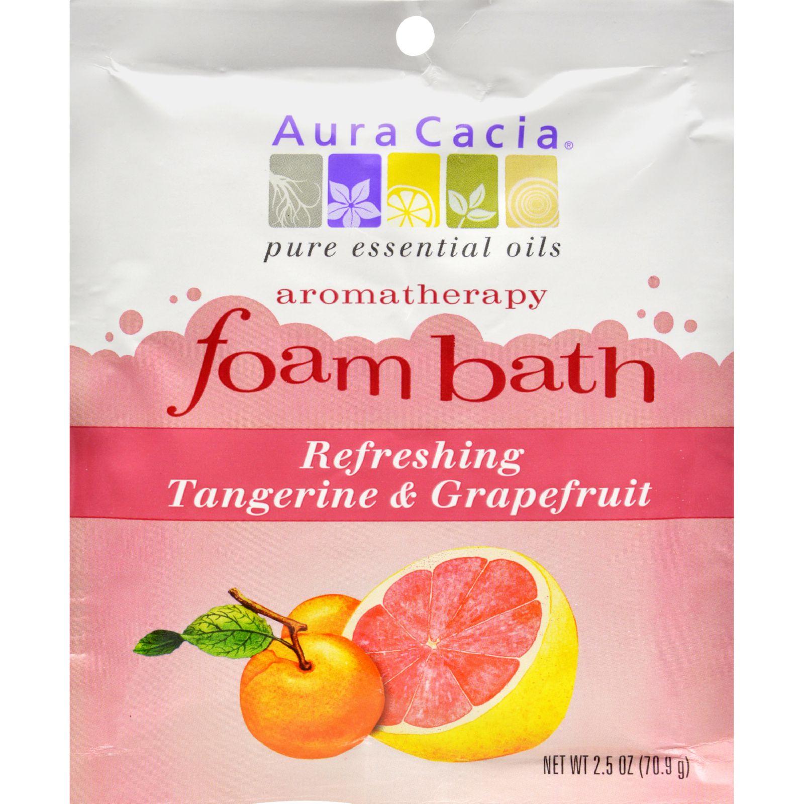 Aura Cacia Tangerine and Grapefruit Foam Bath (6x25 Oz)