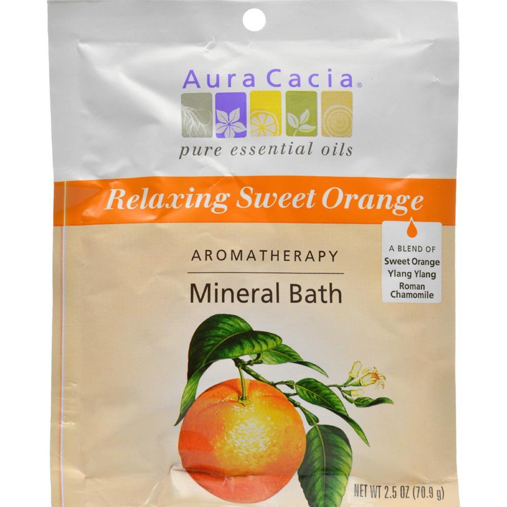 Aura Cacia Mineral Bath Relaxing Sweet Orange (6x25 Oz)