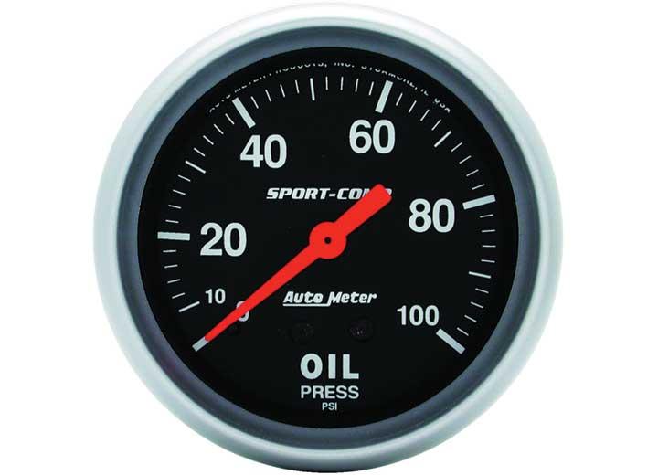 2-5/8IN OIL PRESS, 0-100 PSI, MECH