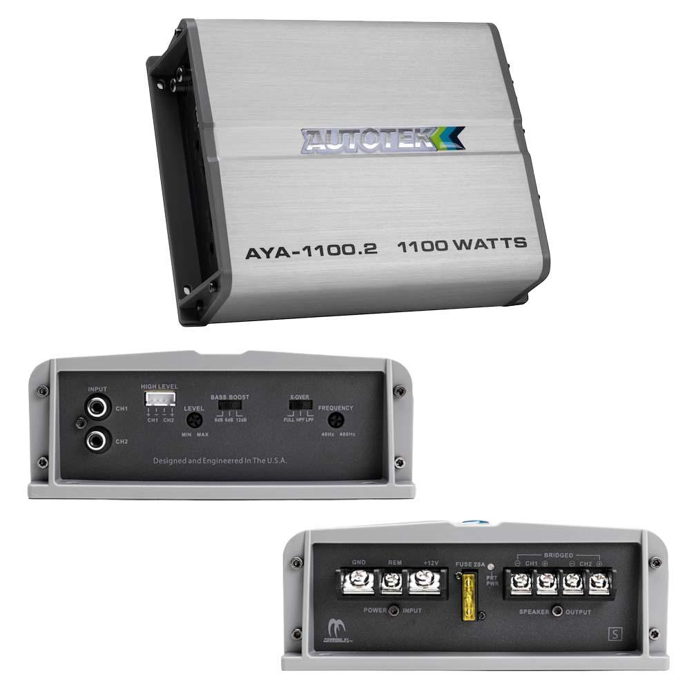 Autotek Alloy Amplifier 2 Channel 1100 Watts Max 2 ohm