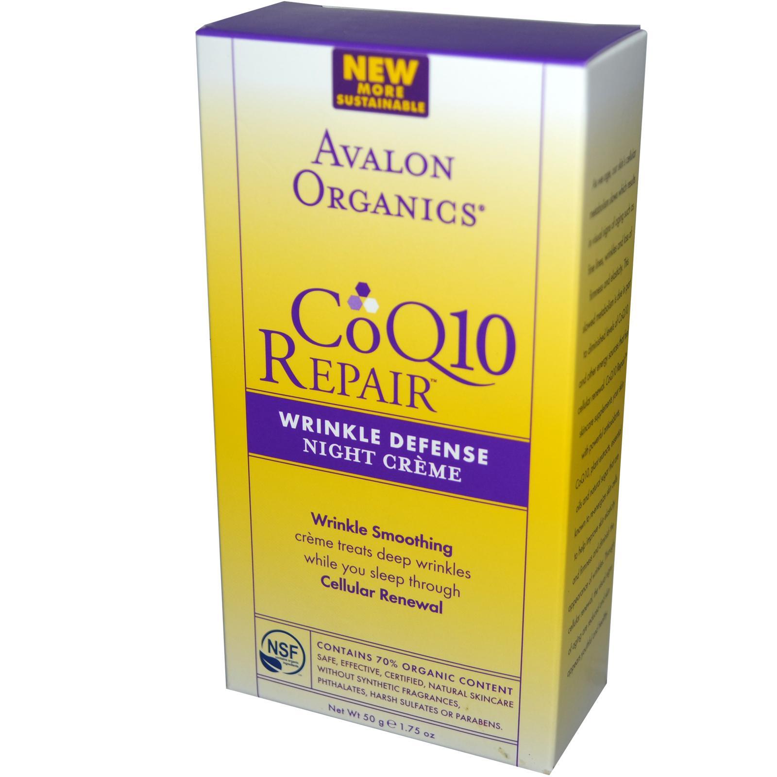Avalon Coq10 Wrinkle Defense Night Cream (175Oz)
