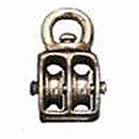 Baron 0178ZD-1-1/2 Double Sheave Double Wheel Swivel Eye Rope Pulley, Zinc Die-Cast