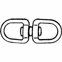 Baron C-018-5/8 Round Eye Double End Swivel, 5/8 in Eye X 2-3/8 in OAL