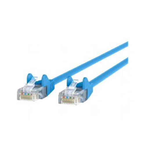 CAT5e Snagless UTP Patch Cable, RJ45 Connectors, 7 ft, Blue
