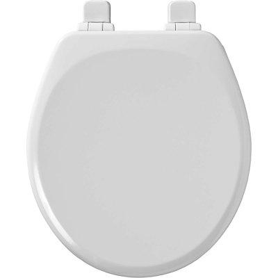 SEAT TOILET MLDWOOD RND WHITE
