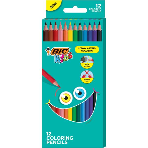 Kids Coloring Pencils, 0.7 mm, HB2 (#2), Assorted Lead, Assorted Barrel Colors, 12/Pack