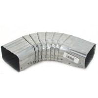 Billy Penn 05054 Type B Square Corrugated Gutter Elbow, 75 deg, 2 in W X 3 in D X 28 ga T