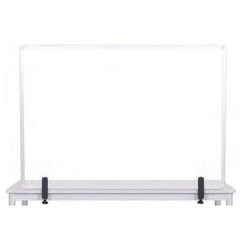 Protector Series Glass Aluminum Desktop Divider, 40.9 x 0.16 x 27.6, Clear