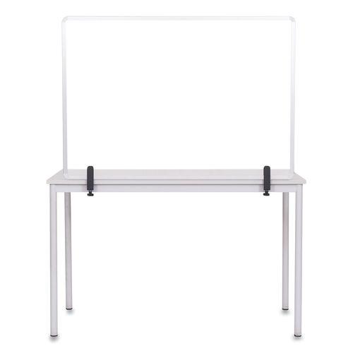 Protector Series Glass Aluminum Desktop Divider, 47.2 x 0.16 x 35.4, Clear