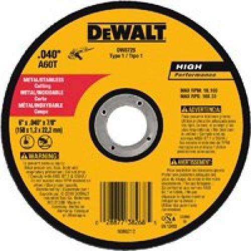 DW8725 6X.040X7/8 CUTOFF WHEEL