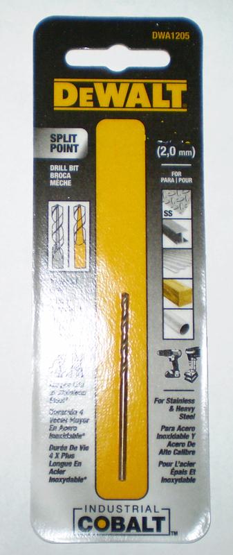 DWA1204 1/16 IN. COBALT DRILL BIT