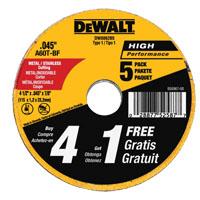 DW8062B5 5PK 4-1/2 CUT WHEEL
