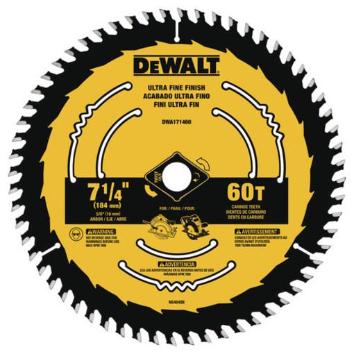DWA171460 7-1/4 60T FINE BLADE