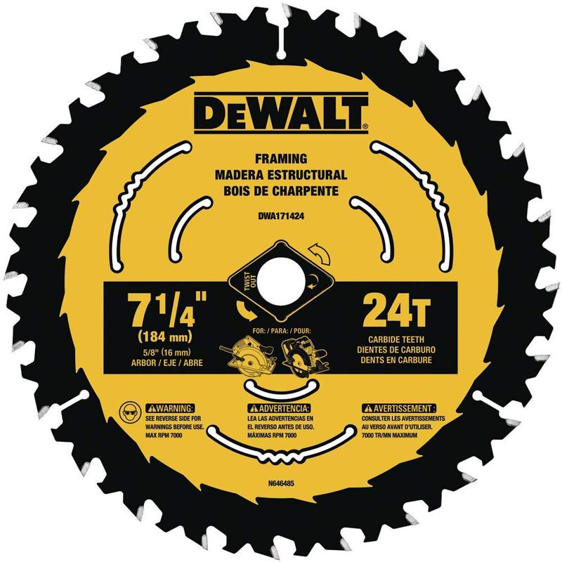 DWA171424 7-1/4 24T FRAM BLADE