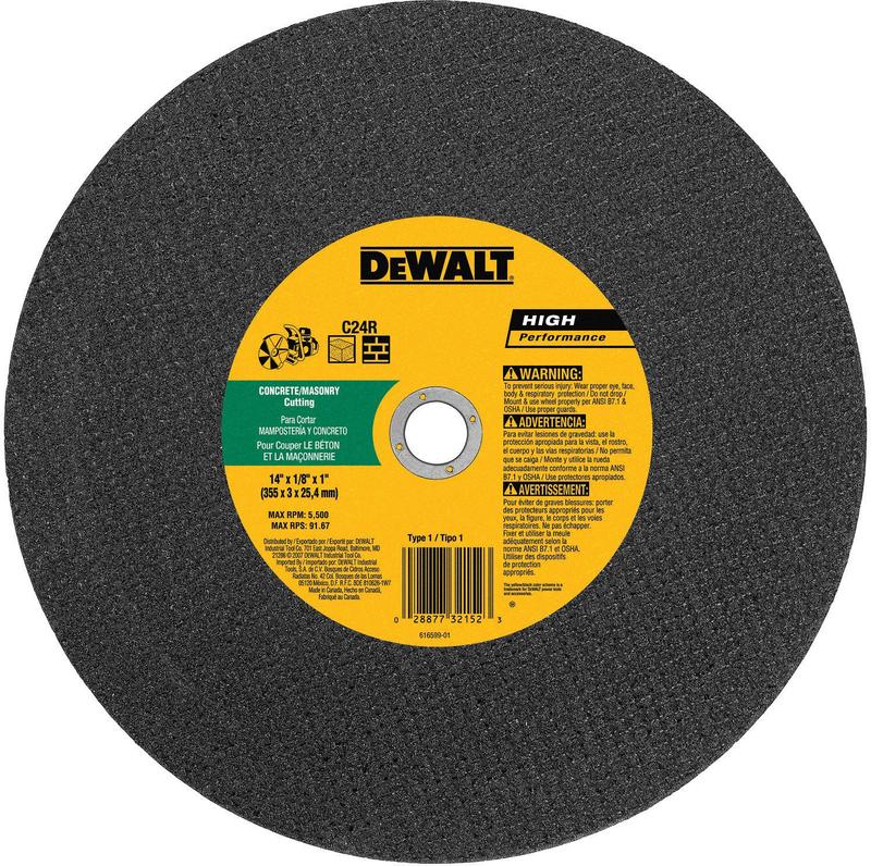 DW8025 14 IN. 20MM CUT OFF WHEEL