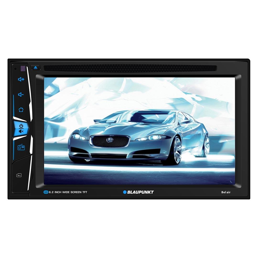 "Blaupunkt Belair 6.2"" Double DIN Fixed Face Touchscreen DVD Receiver with Bluetooth USB/SD Inputs a"