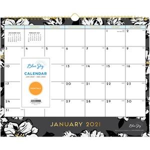 Baccara Dark Wall Calendar, 15 x 12, 2021