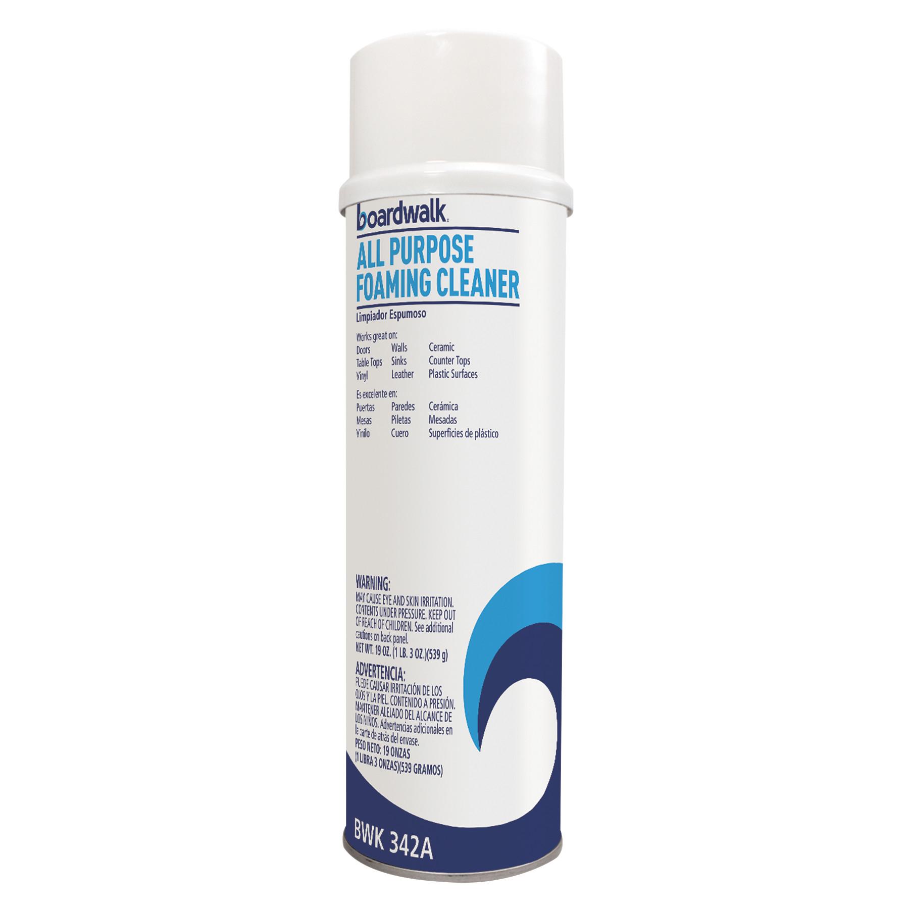 All-Purpose Foaming Cleaner w/Ammonia, 19oz Aerosol