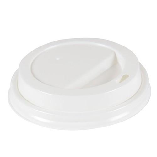Hot Cup Lids for 10oz - 16oz Cups, White, Plastic, 50/PK, 20 PK/Carton