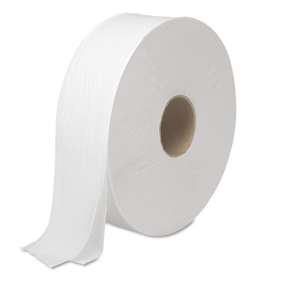 "JRT Bath Tissue, Jumbo, Septic Safe, 2-Ply, White, 3.5"" x 2000 ft, 6 Rolls/Carton"
