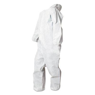 Disposable Coveralls, White, X-Large, Polypropylene, 25/Carton