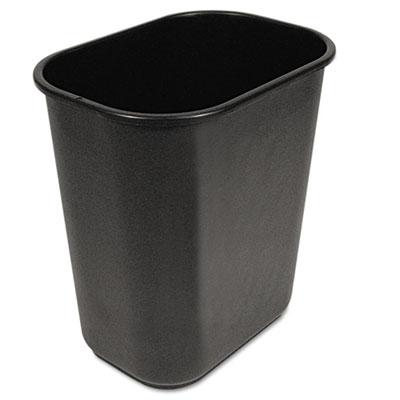 Soft-Sided Wastebasket, 28qt, Black