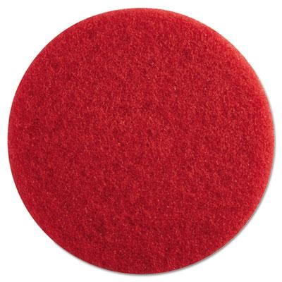 "Standard Floor Pads, 13"" Diameter, Red, 5/Carton"