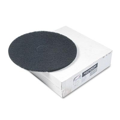 "Standard Floor Pads, 20"" Diameter, Black, 5/Carton"