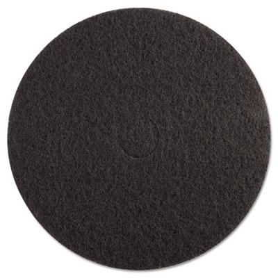 "High-Performance Standard Floor Pads, 20"" Diameter, Black, 5/Carton"