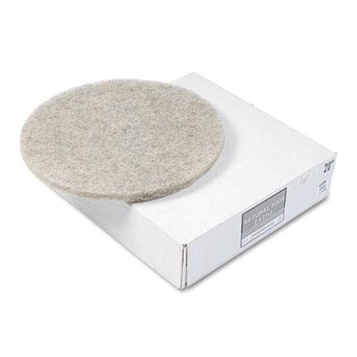 """Natural Hair Extra High-Speed Floor Pads, Natural, 20"""" Diameter, 5/Carton"""
