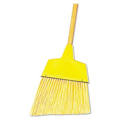 "Angler Broom, Plastic Bristles, 42"" Wood Handle, Yellow, 12/Carton"
