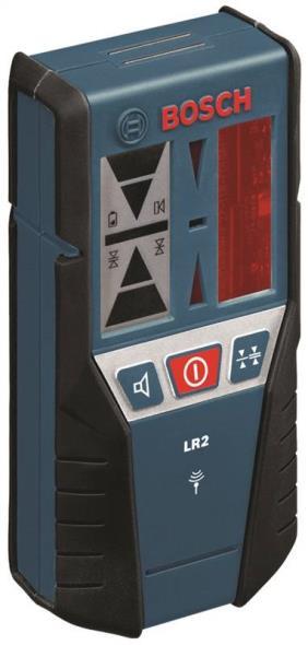Bosch LR2 Laser Receiver, +/-1mm (Fine) / +/-3mm (Medium), 165 ft, Battery