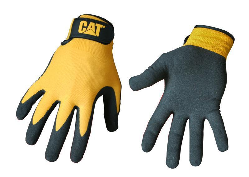CAT017416J YLW NYLN NITR GLOVE