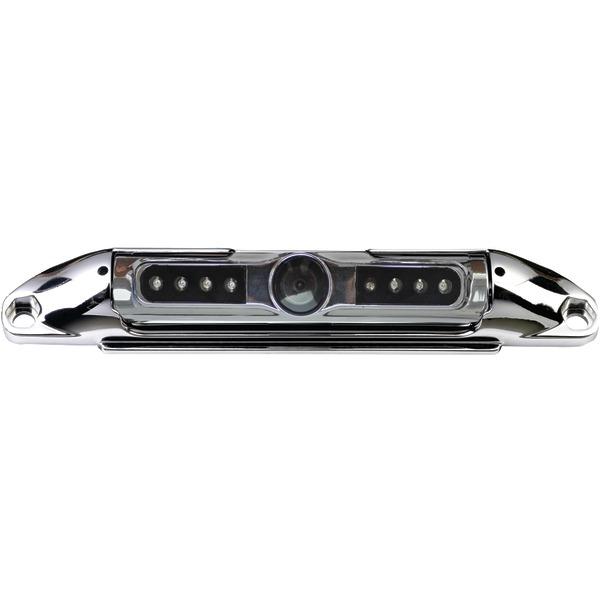 BOYO Vision VTL400CIR Bar-Type 140deg License Plate Camera with IR Night Vision & Parking-Guide Lines (Chrome)