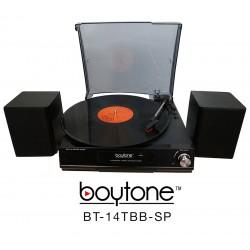 BOYTONE BT14TBBSP BLACK FULL SIZE TURNTABLE MULTI RPM 3 SPEED