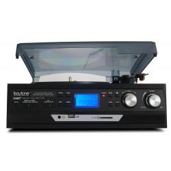 BOYTONE BT17DJB BLACK TURNTABLE WITH MULTI RPM SD/AUX/USB/RCA