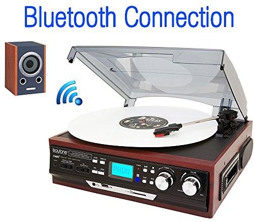 BOYTONE BT37MC AM FM CASSETTE TURNTABLE BLUETOOTH 3 SPEED