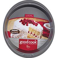 Good Cook 4016 Non-Stick Cake Pan, 9 in Dia, Steel