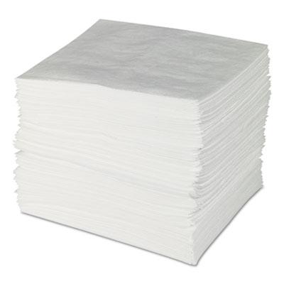 ENV MAXX Enhanced Oil Sorbent Pads, .24gal, 15w x 19l, White, 100/Bundle
