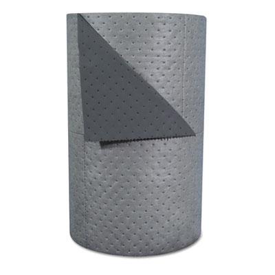 "High-Traffic Series Sorbent-Pad Roll, 63gal, 30"" x 300ft, Gray, 100/Pack"