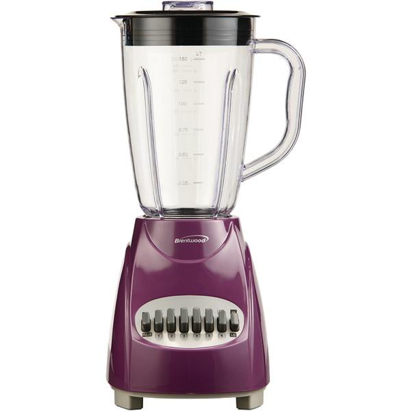 Brentwood Appliances JB-220PR 12-Speed Blender with Plastic Jar (Purple)