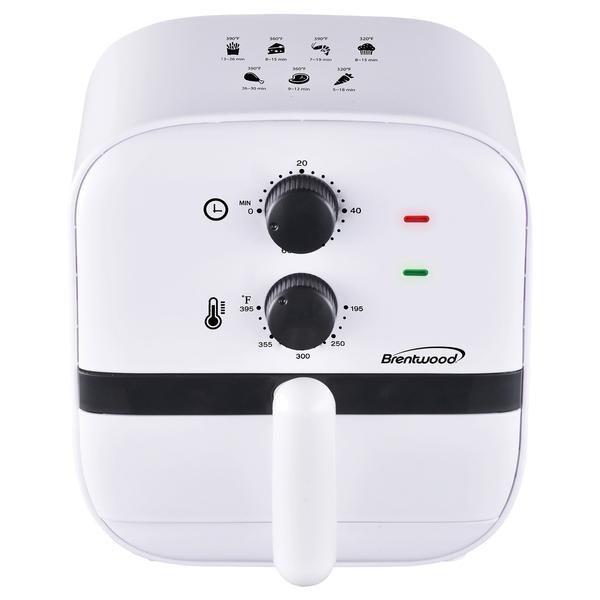 Brentwood Appliances AF-100W 1-Quart 700-Watt Electric Air Fryer (White)