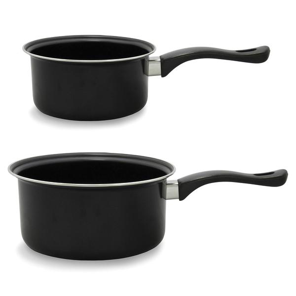 Brentwood Appliances BSP-1620 2-Piece Nonstick Carbon Steel Saucepan Set