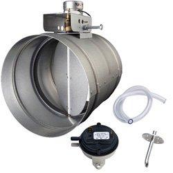 """8"""" Universal Automatic Make-Up Air Damper w/ Pressure Sensor Kit"""