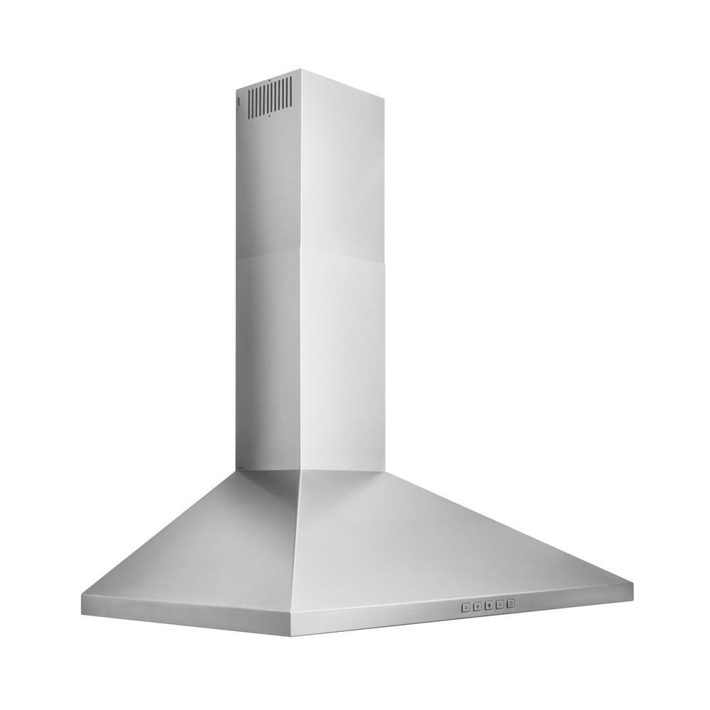 "Broan 36"" Classic Pyramid Chimney Hood, 450 CFM, LED"