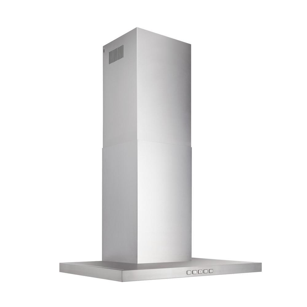 "Broan 30"" T-Style Chimney Hood, 450 CFM, LED, LOW PROFILE"