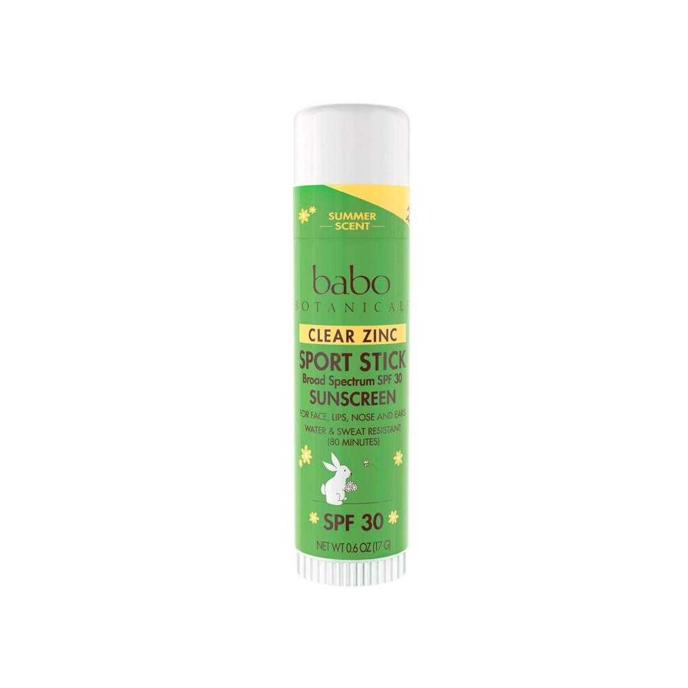 Babo Botanicals Zinc Sport Stick Clear SPF 30 (12x 06 Oz)