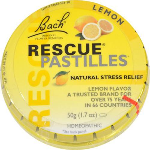 Bach Rescue Remedy Pastilles Lemon 50 grm (12 Pack)